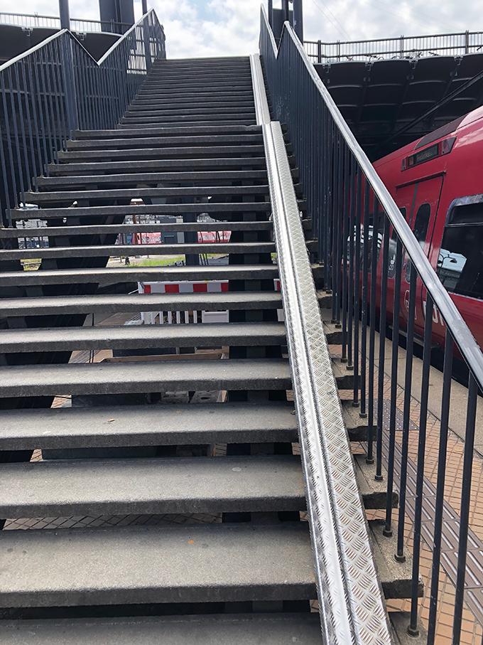 階段 バイクトレイン(サイクル コペンハーゲン 佐野クリケットチャレンジ)