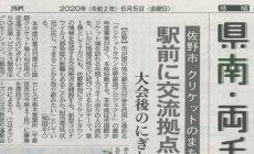「佐野駅前に交流拠点建設」のニュースが下野新聞に掲載されました!