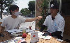 Radio Berry FM栃木「B with You」がクリケットカフェから生中継、山本武白志店長が出 演しました